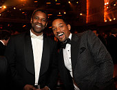 NEW YORK JUNE 13 Denzel Washington and Will Smith in the audience at the 64th Annual Tony Awards at Radio City Music Hall on June 13 2010 in New York...