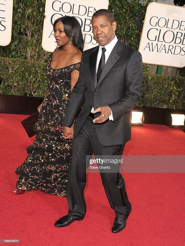 Denzel Washington arrives at the 70th Annual Golden Globe Awards at The Beverly Hilton Hotel on January 13, 2013 in Beverly Hills, California.