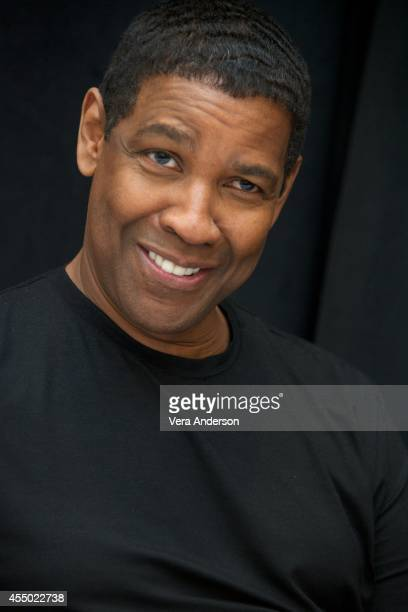 Denzel Washington at 'The Equalizer' Press Conference at Trump International Hotel Tower on September 7 2014 in Toronto Ontario