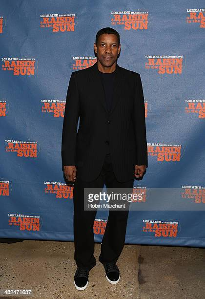 Denzel Washington attends 'A Raisin In The Sun' Broadway Opening Night after party at Tribeca Rooftop on April 3 2014 in New York City