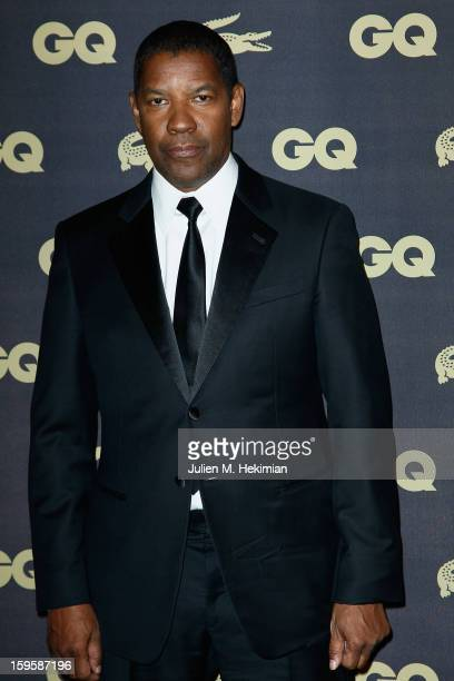 Denzel Washington attends GQ Men of the year awards 2012 at Musee d'Orsay on January 16 2013 in Paris France