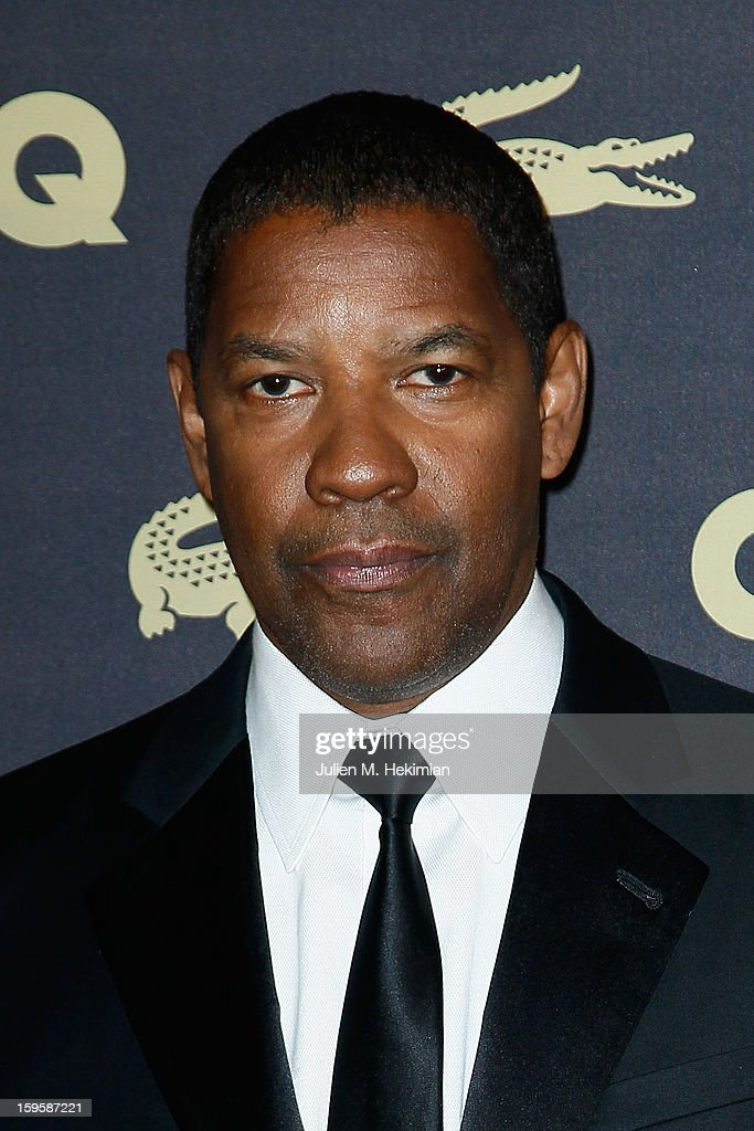 Denzel Washington attends GQ Men of the year awards 2012 at Musee d'Orsay on January 16, 2013 in Paris, France.