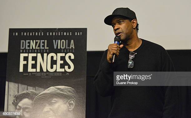 Denzel Washington attends the Cast Crew Special Screening of the Paramount Pictures title 'FENCES' at Southside Works Cinema on December 20 2016 in...