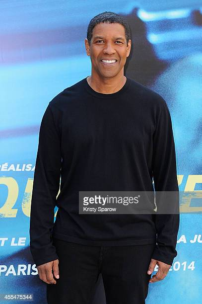 Denzel Washington attends the 'Equalizer' Paris Photocall at Hotel Bristol on September 15 2014 in Paris France