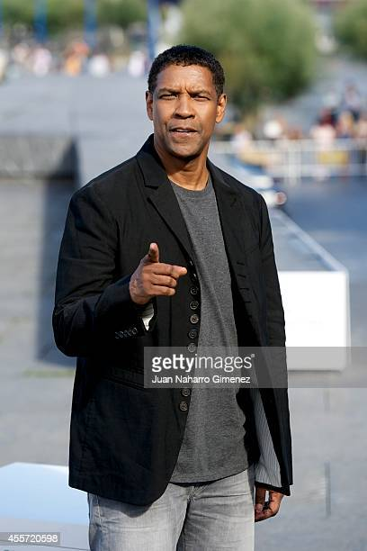 Denzel Washington attends 'The Equalizer' photocall during 62nd San Sebastian Film Festival on September 19 2014 in San Sebastian Spain