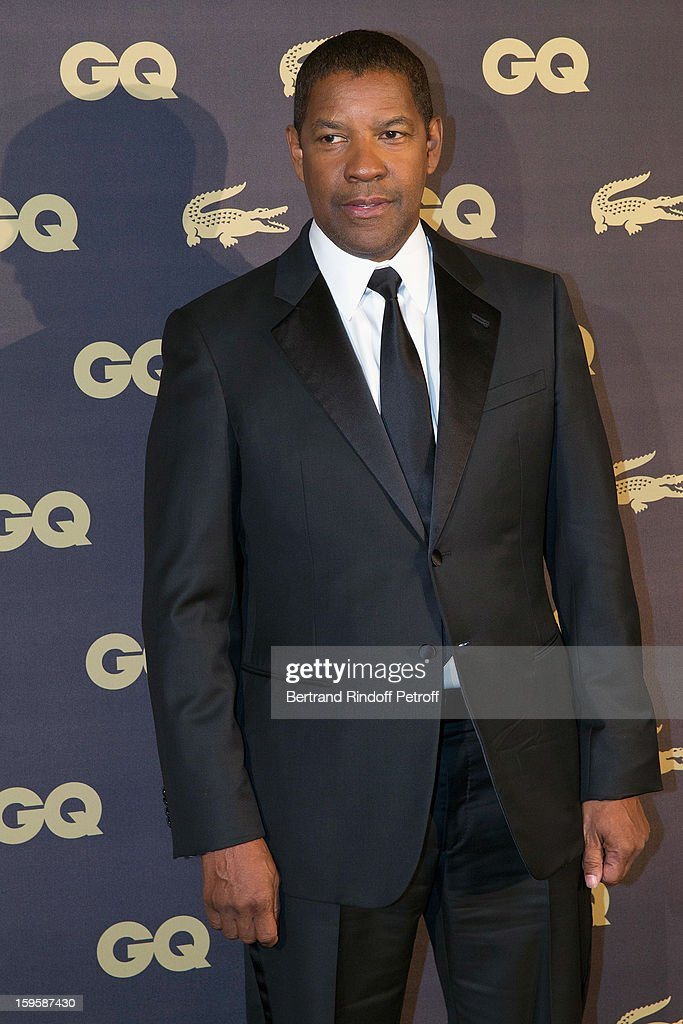 Denzel Washington attends the GQ Men of the year awards 2012 at Musee d'Orsay on January 16, 2013 in Paris, France.