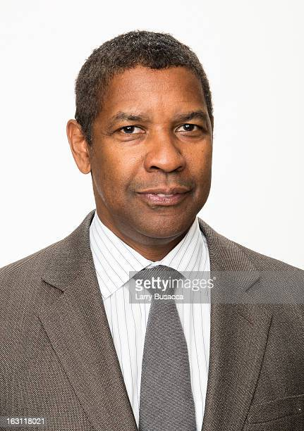 Denzel Washington attends the Peoplecom Portrait Gallery at the 85th Academy Awards Nominees Luncheon at The Beverly Hilton Hotel on February 4 2013...