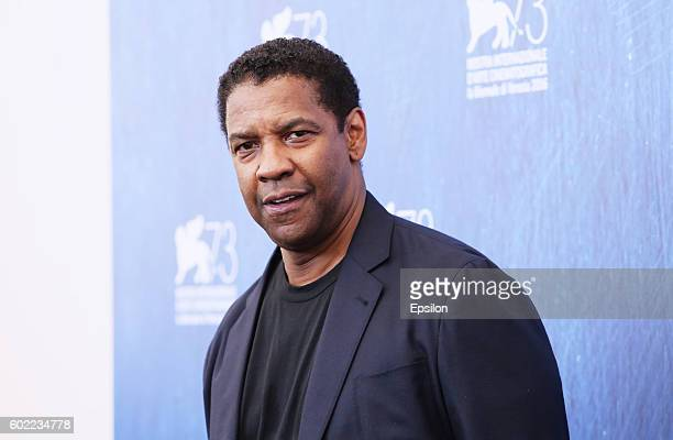 Denzel Washington attends the photocall for 'The Magnificent Seven' during the 73rd Venice Film Festival at Palazzo del Casino on September 10 2016...