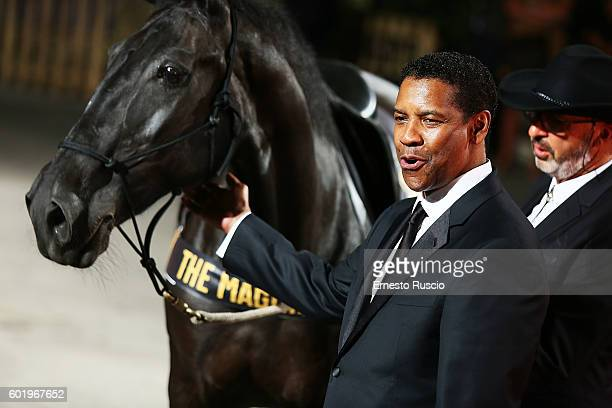 Denzel Washington attends the premiere of 'The Magnificent Seven' during the 73rd Venice Film Festival at Sala Grande on September 10 2016 in Venice...