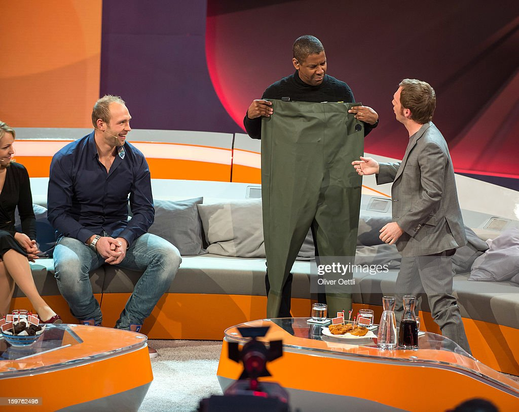 Denzel Washington attends the 'Wetten dass' show on January 19 2013 in Offenburg Germany