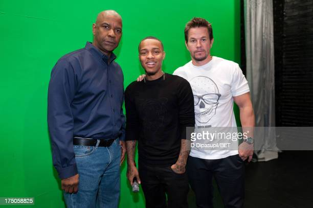 Denzel Washington Bow Wow and Mark Wahlberg visit BET's '106 Park' at BET Studios on July 29 2013 in New York City