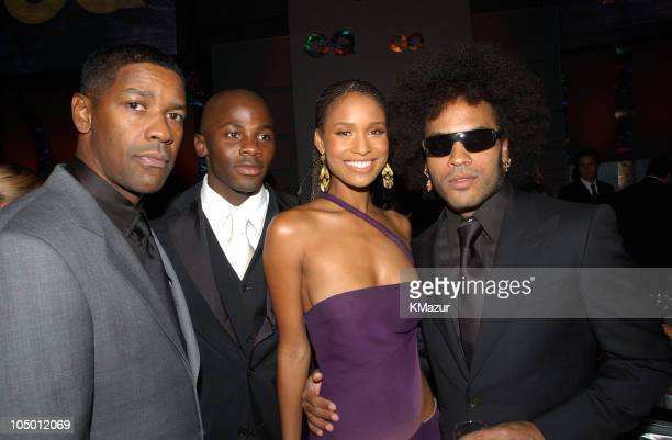 Denzel Washington Derek Luke Joy Bryant and Lenny Kravitz