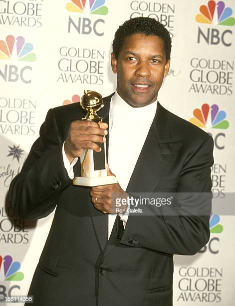 Denzel Washington during 57th Annual Golden Globe Awards Press Room at Beverly Hilton Hotel in Los Angeles California United States