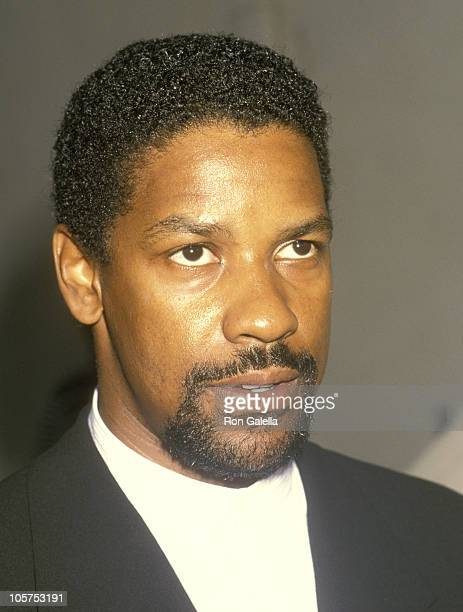 Denzel Washington during Gathering Place Center for Moms and Kids With AIDS Benefit May 1 1993 at Home of Dionne Warwick in Beverly Hills California...