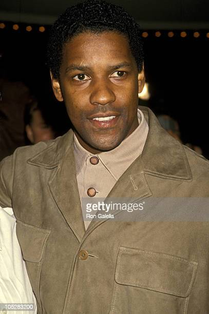 Denzel Washington during Screening of 'The Pelican Brief' at Mann's Bruin Theater in Westwood CA United States