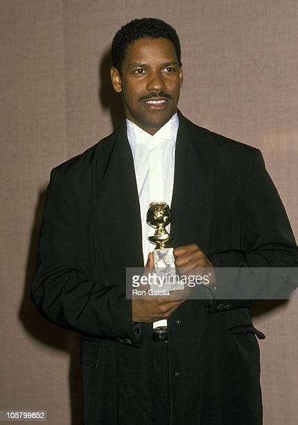 Denzel Washington during The 47th Annual Golden Globe Awards at The Beverly Hilton Hotel in Beverly Hills California United States