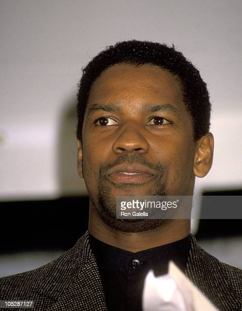 Denzel Washington during The 8th Annual IFP/West Independent Spirit Awards at Santa Monica Beach in Santa Monica California United States