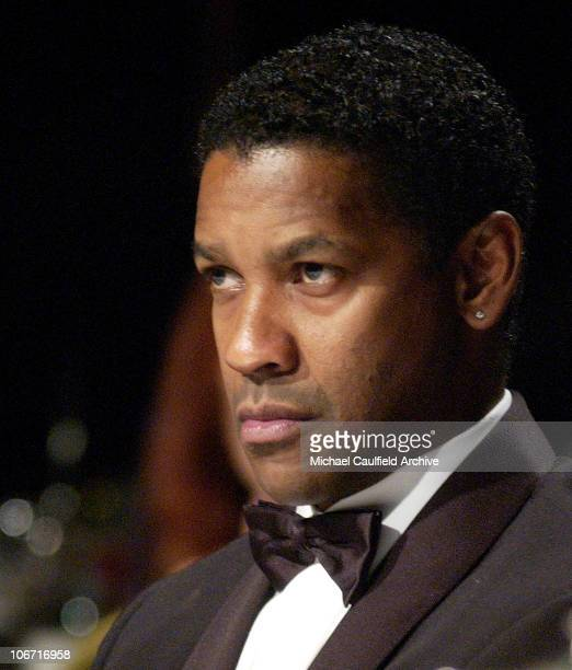 Denzel Washington looks on during ceremony during The 17th Annual American Cinematheque Award Honoring Denzel Washington Show and Backstage at...