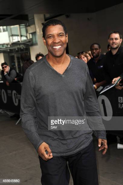 Denzel Washington pictured at BBC Radio 1 on September 18 2014 in London England