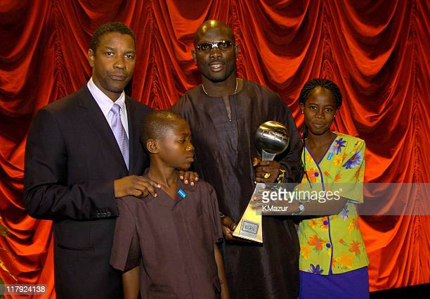 Denzel Washington with George Weah