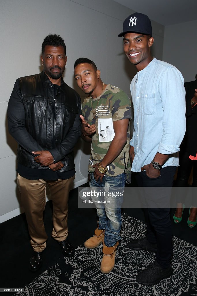 Deon Cole, Allen Maldonado, and Chris Brew attend UTA celebrates Anthony Anderson on his Emmy nomination for his work on 'Black-ish' at UTA on August 23, 2017 in Beverly Hills, California.