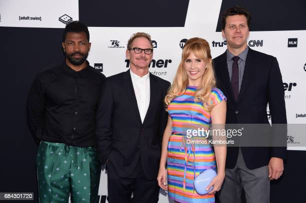 Deon Cole Jere Burns Andree Vermeulen and Hayes Macarthur attend the Turner Upfront 2017 arrivals on the red carpet at The Theater at Madison Square...