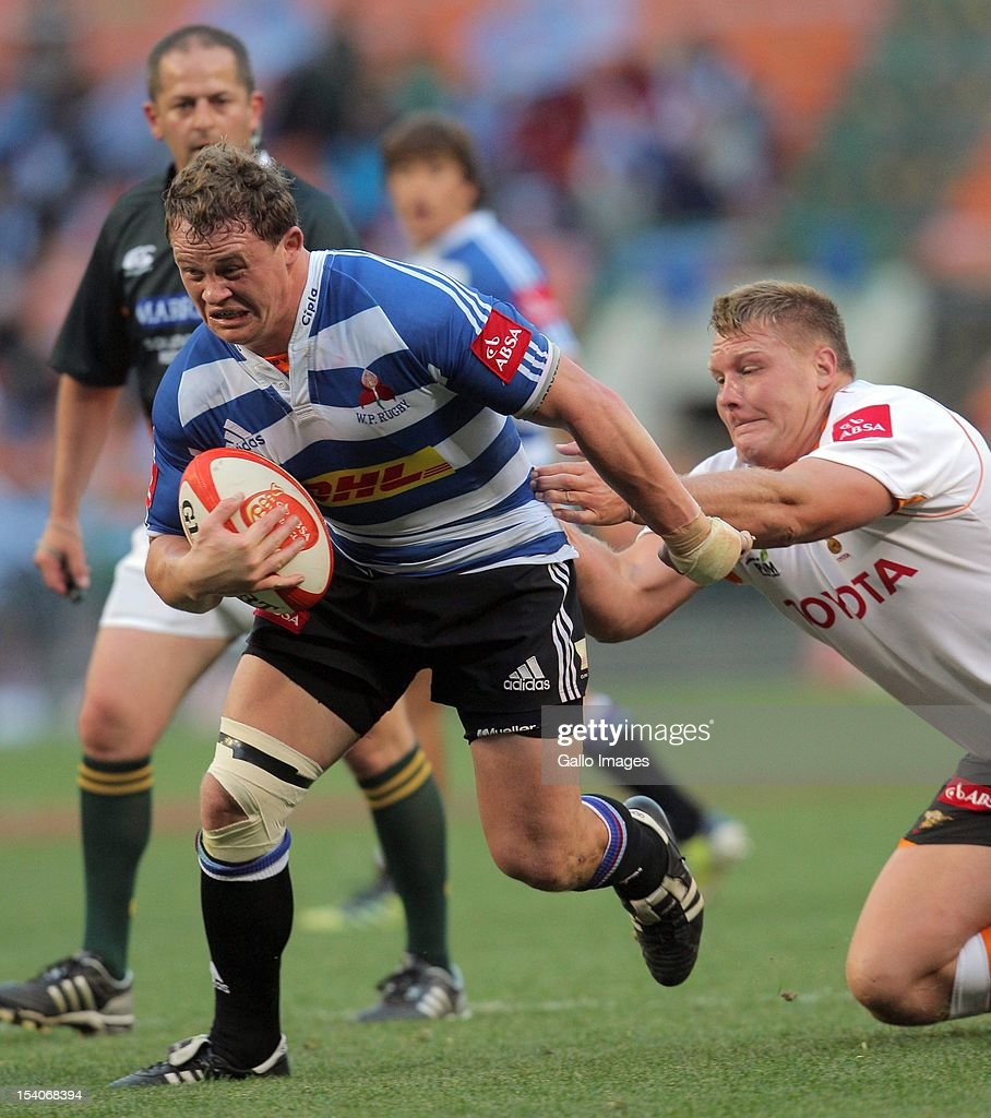 Deon Fourie of Western Province runs at the Cheetahs defence during the Absa Currie Cup match between DHL Western Province and Toyota Free State...