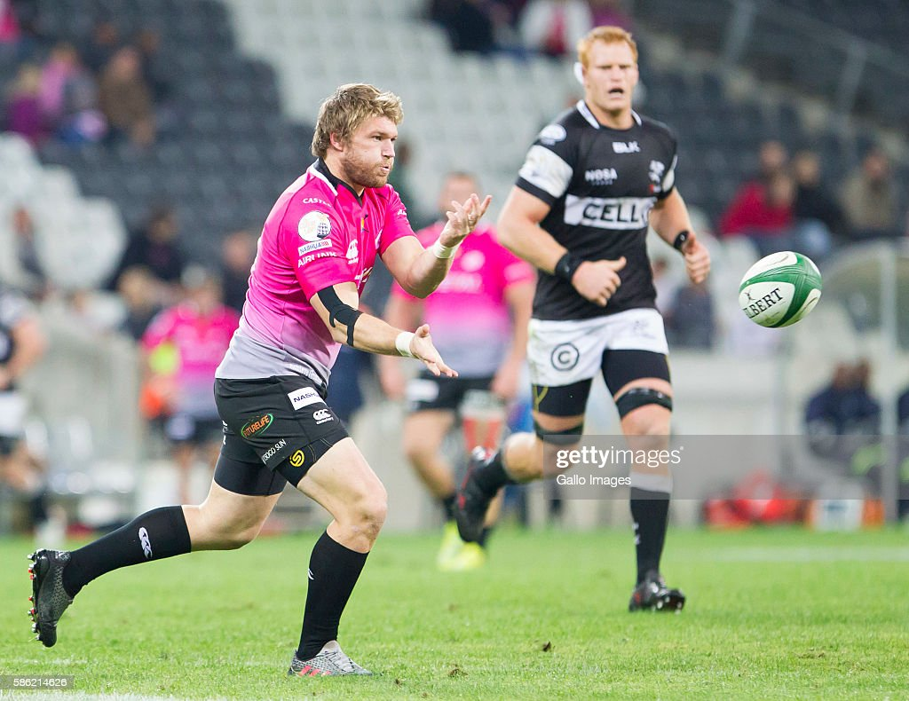 Deon Helberg of the Steval Pumas during the Currie Cup match between Steval Pumas and Cell C Sharks XV at Mbombela Stadium on August 05 2016 in...