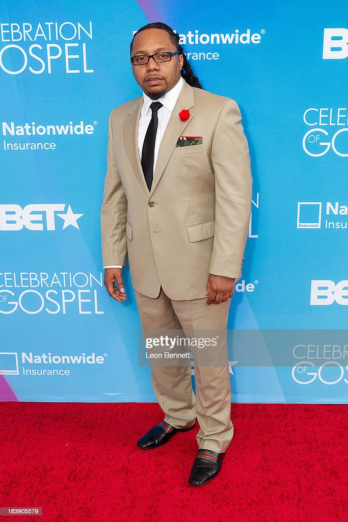 Deon Kipping arrives at the BET Network's 13th Annual 'Celebration of Gospel' at Orpheum Theatre on March 16, 2013 in Los Angeles, California.