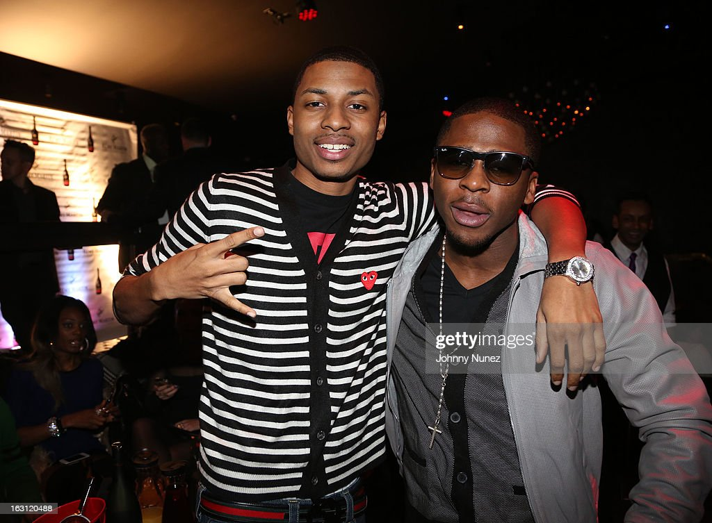 Deon Young and Marcus Canty attend the Remy Martin V.S.O.P Ringleader Culmination Event with Robin Thicke at Marquee on March 4, 2013 in New York City.