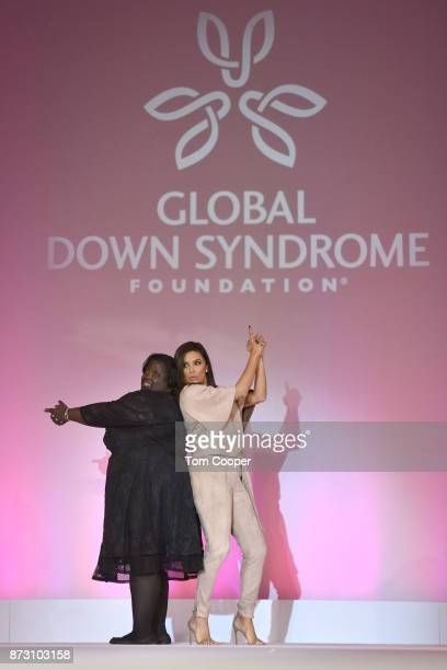 DeOndra Dixon and Eva Longoria at the Global Down Syndrome Foundation's 9th annual Be Beautiful Be Yourself Fashion Show at Sheraton Denver Downtown...