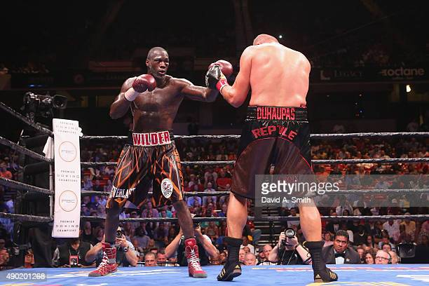 Deontay Wilder and Johann Duhaupas fight at Legacy Arena at the BJCC on September 26 2015 in Birmingham Alabama