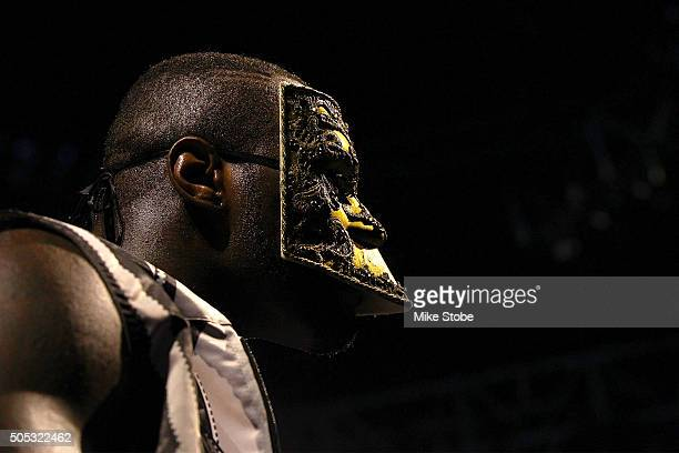 Deontay Wilder is introduced prior to his WBC Heavyweight Championship bout against Artur Szpilka at Barclays Center on January 16 2016 in Brooklyn...