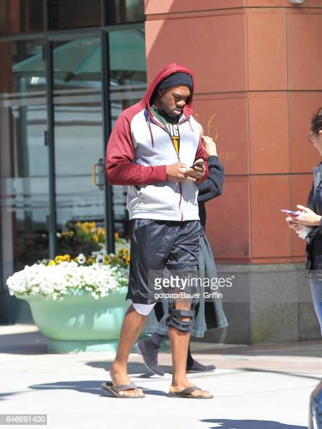 Deontay Wilder is seen on February 28 2017 in Los Angeles California