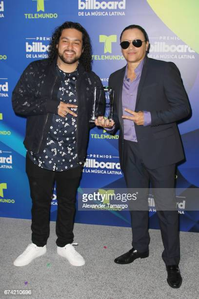 Deorro and Elvis Crespo poses in the press room during the Billboard Latin Music Awards at Watsco Center on April 27 2017 in Coral Gables Florida