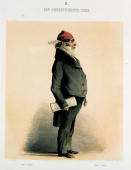 A department chiefPublic servant with red cap and pinfeather Taken from Viennese characters in figurative representations Publisher LTNeumann Printed...