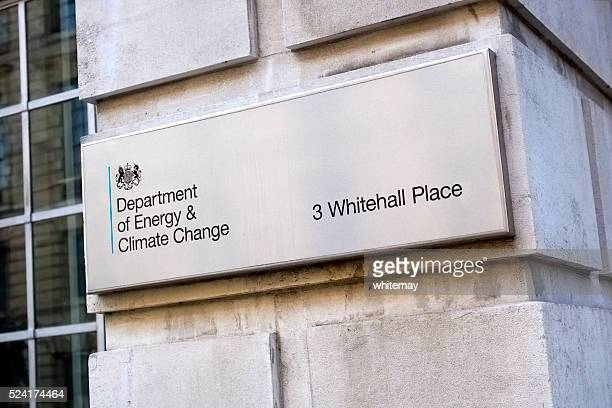 Department of Energy and Climate Change - sign in London