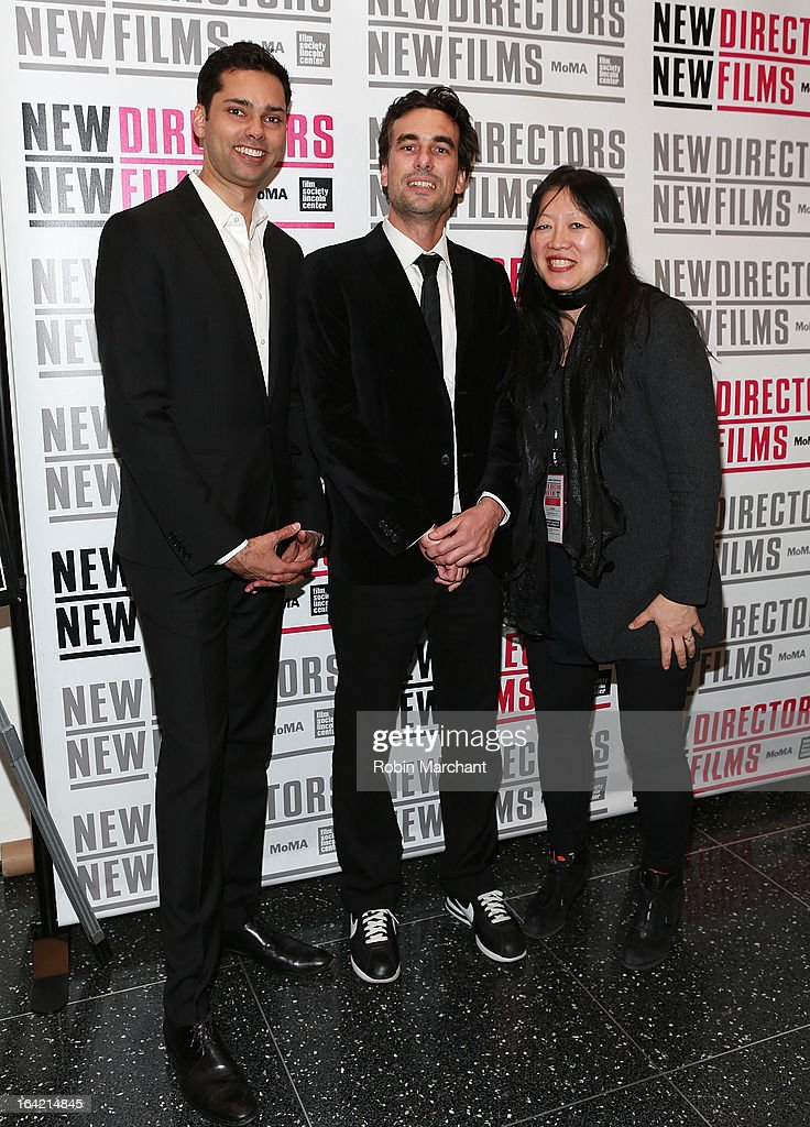 Department of Film Chief Curator Rajendra Roy, director Alexandre Moors and exeuctive director of the Film Society of Lincoln Center Rose Kuo attend the New Directors/New Films 2013 Opening Night screening of 'Blue Caprice' at the Museum of Modern Art on March 20, 2013 in New York City.