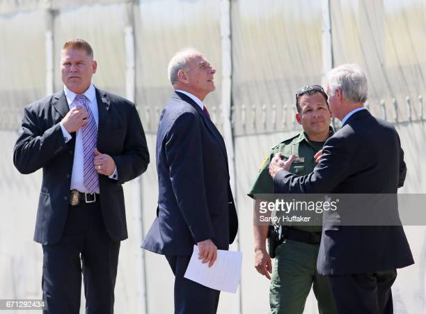 Department of Homeland Security John Kelly and Ron Johnson Chairman of the Senate Committee on Homeland Security and Governmental Affairs during a...