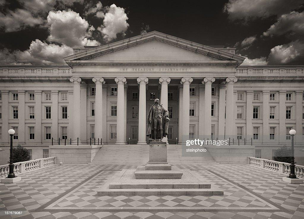 US Department Of The Treasury Sepia Toned
