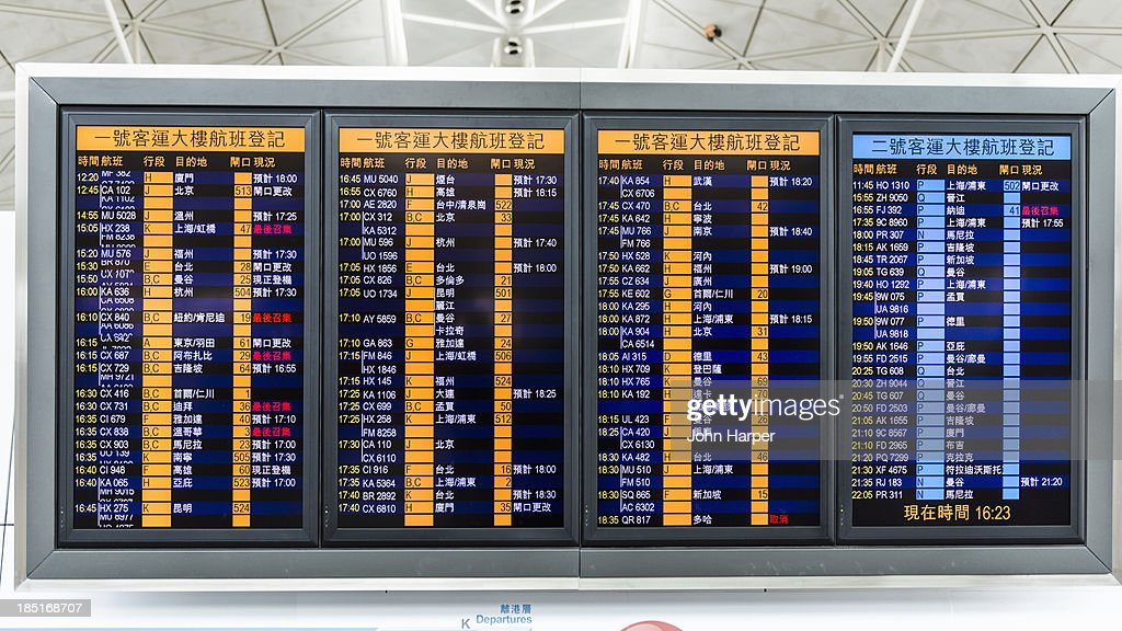 Departure Board, Hong Kong International Airport