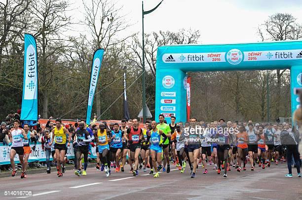 Departure during Half Marathon on March 6 2016 in Paris France