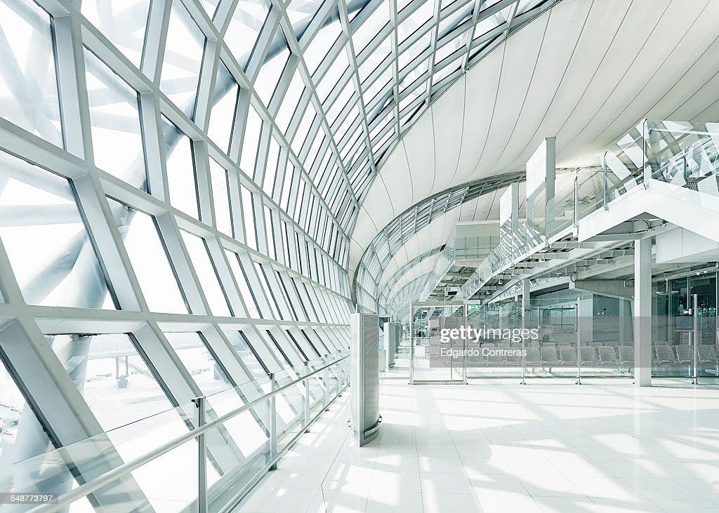 Departure gate at Bangkok international airport