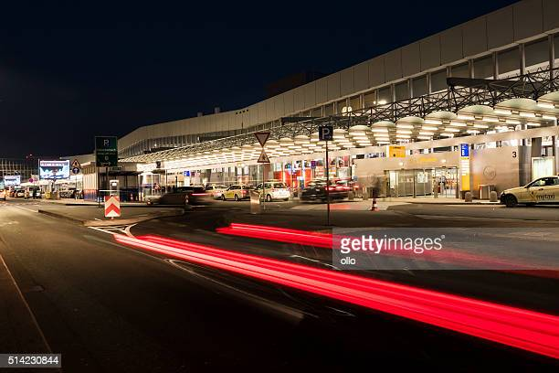 Departure terminal hall Frankfurt Airport, long exposure