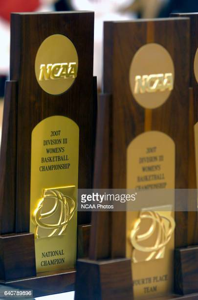 DePauw University takes on Washington University during the Division III Women's Basketball Championship held at Blake Arena on the campus of...