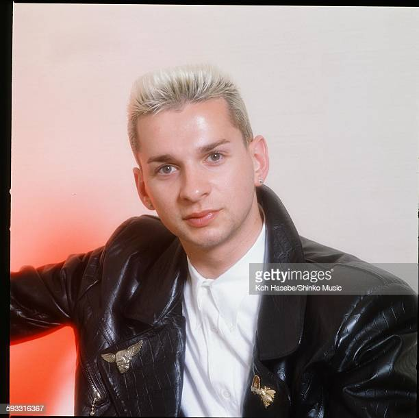 Depeche Mode David Gahan at photo studio in Tokyo April 1985