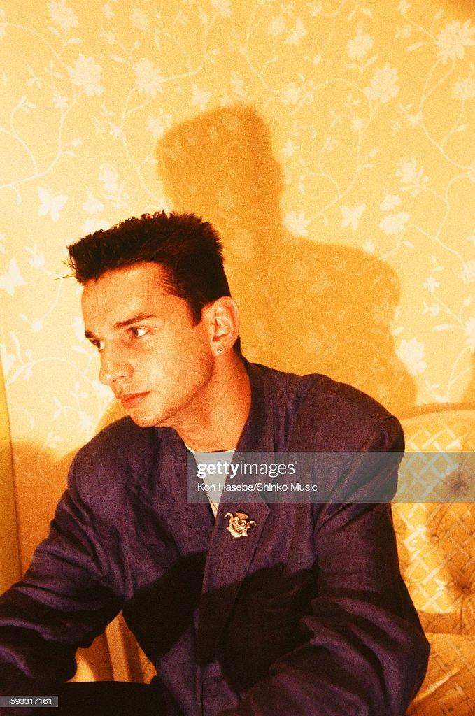 Depeche Mode David Gahan at studio in Tokyo July 1986