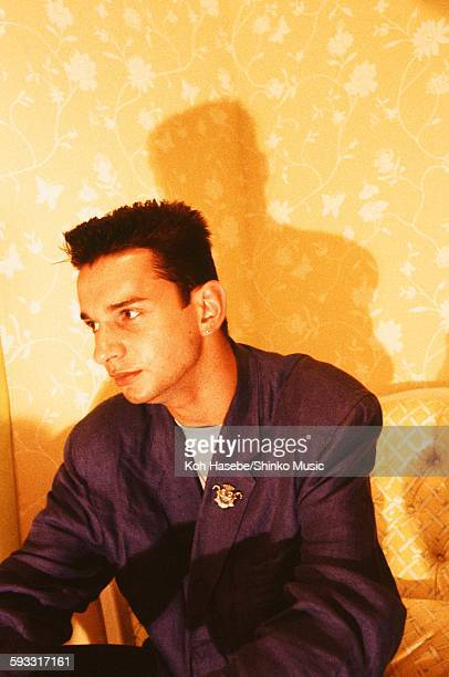 Depeche Mode David Gahan at studio in Tokyo July 1986