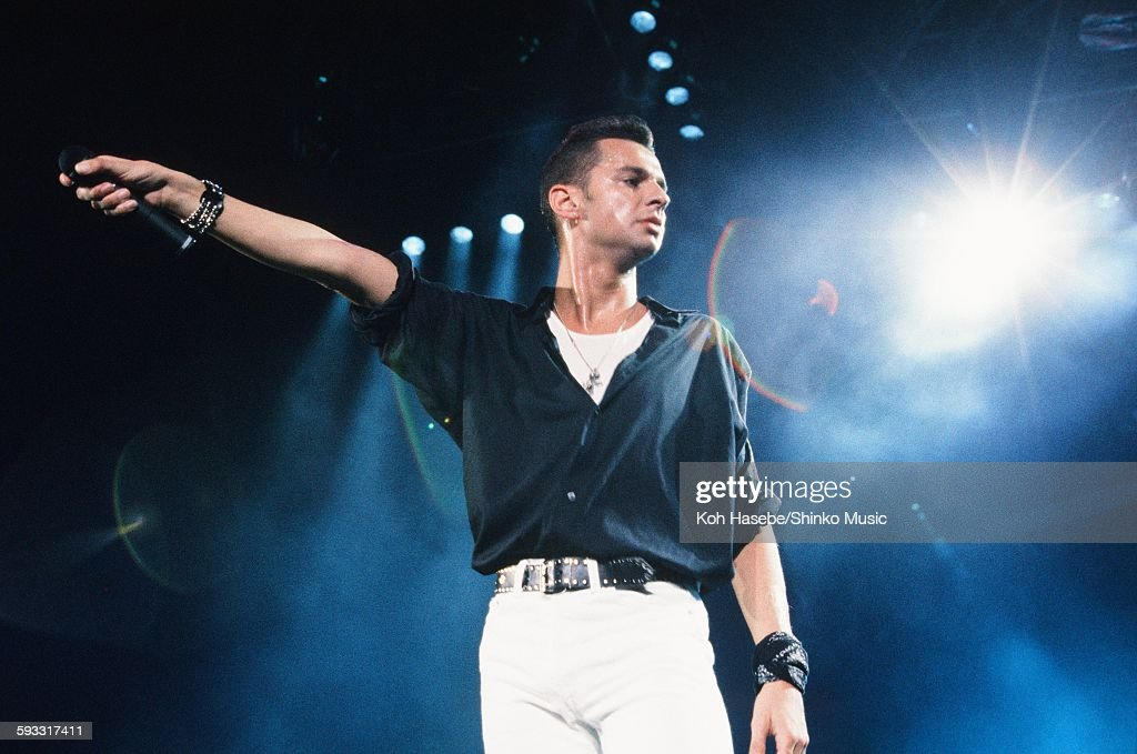 Depeche Mode David Gahan live at Nippon Budokan Tokyo September 11 1990