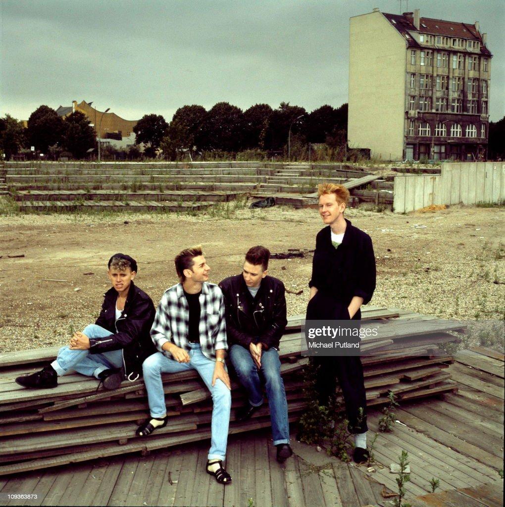Depeche Mode group portrait Berlin July 1984 LR Martin Gore Dave Gahan Alan Wilder Andrew Fletcher
